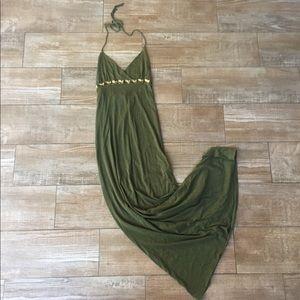 Lure High Fashion Keepsake Green Boho Maxi Dress